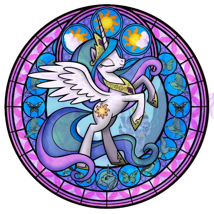 Kingdom hearts clipart stained glass picture library stock Image - 79478 - Kingdom Hearts artist akili-amethyst celestia luna ... picture library stock