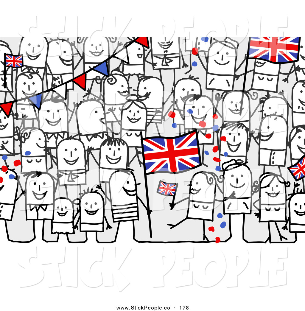 Kingdom with people clipart banner free library Royalty Free United Kingdom Stock Stick People Designs banner free library