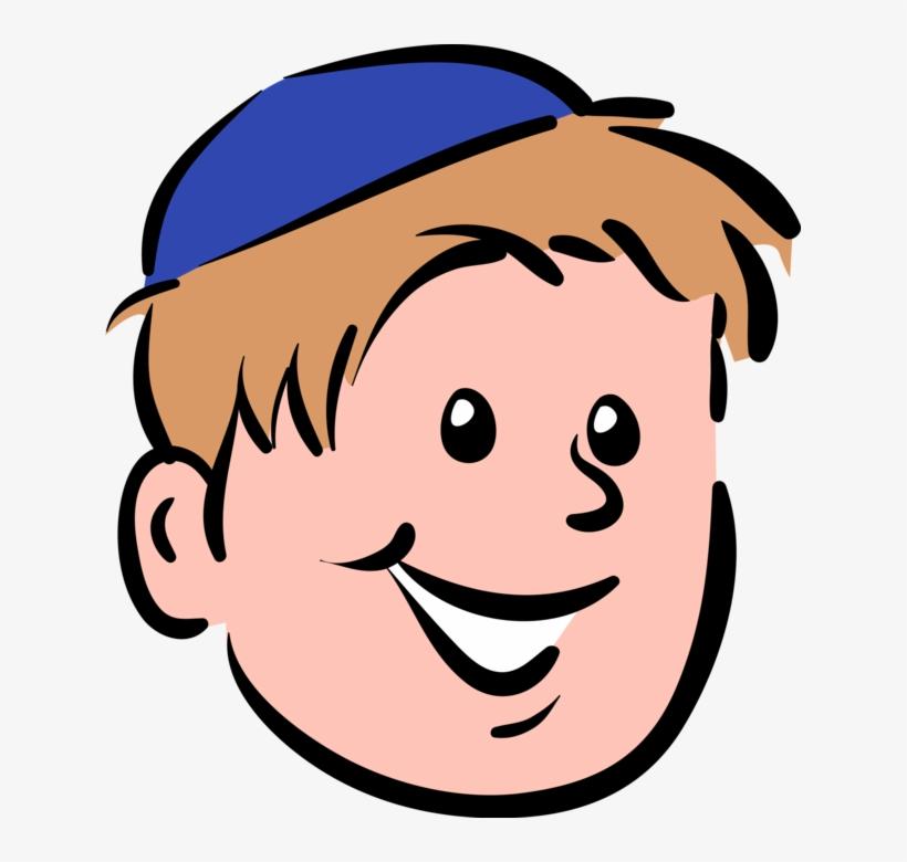 Kippa clipart png black and white Vector Illustration Of Boy Wears Jewish Kippah Kip - Kippah Clipart ... png black and white