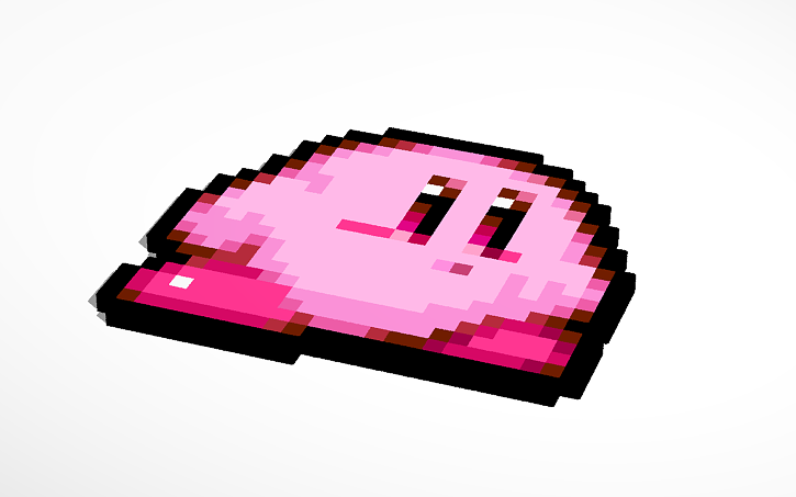 Kirby 8 bit clipart image transparent library 3D design Kirby 8-bit | Tinkercad image transparent library