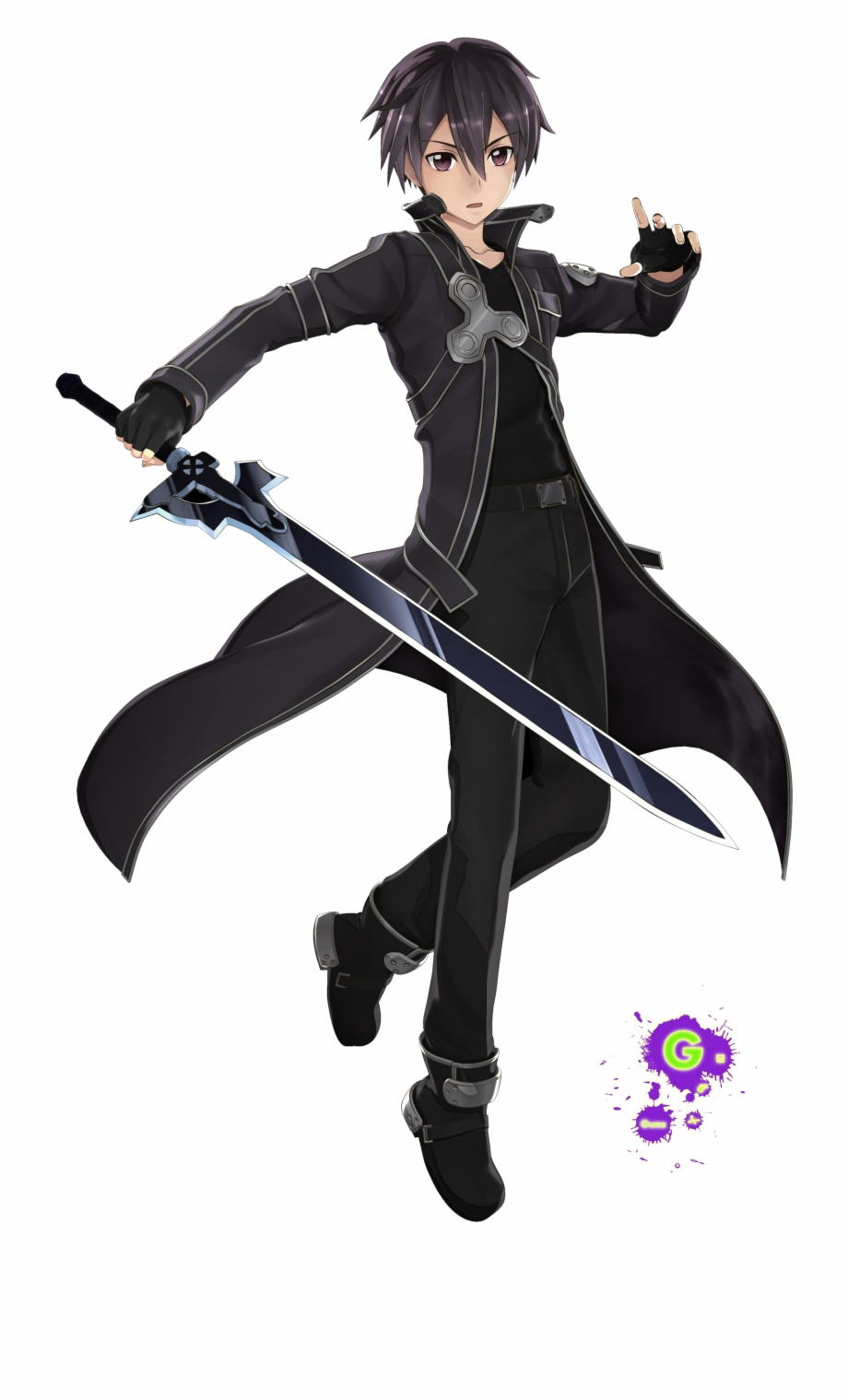 Kirito sao clipart vector transparent Sword Art Online Hollow Realization Kirito Free PNG Images & Clipart ... vector transparent