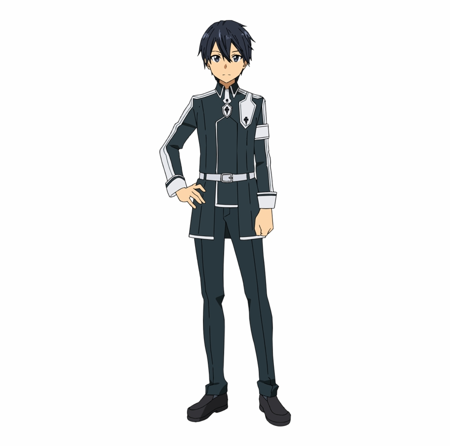 Kirito sao clipart graphic black and white stock Kirito Succeeds In Entering The Swordcraft Academy - Kirito Sword ... graphic black and white stock