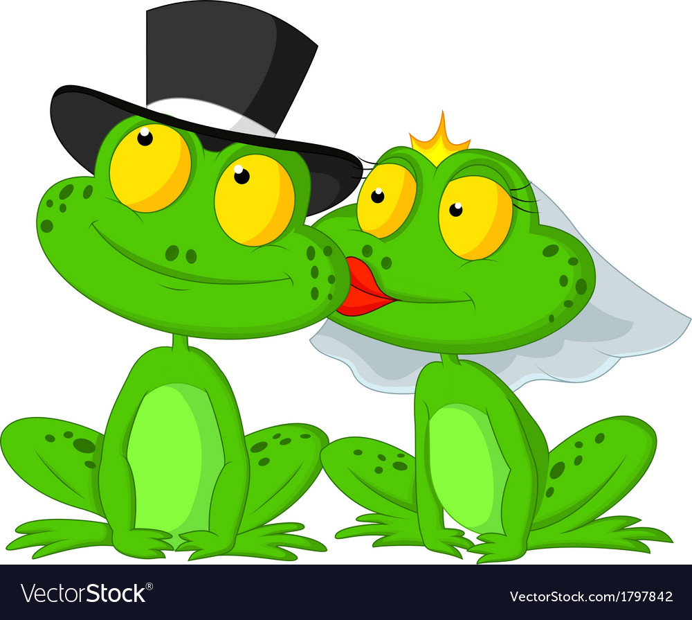 Kiss a lot of frogs free clipart svg black and white library Married frog cartoon kissing svg black and white library