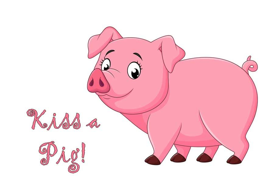 Kiss a pig clipart black and white SGA sponsors \'Kiss a Pig\' fundraiser – The Pony Express black and white