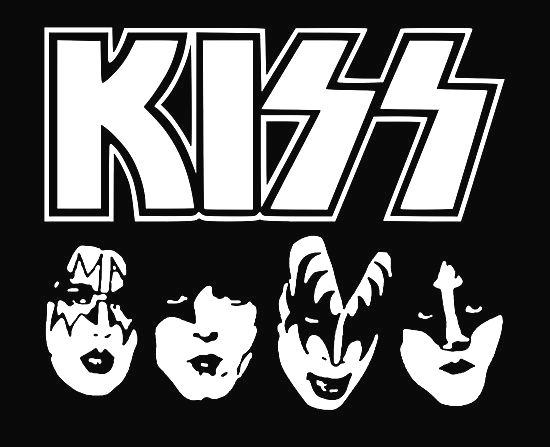 Kiss band clipart black and white Kiss Band Coloring Pages black and white