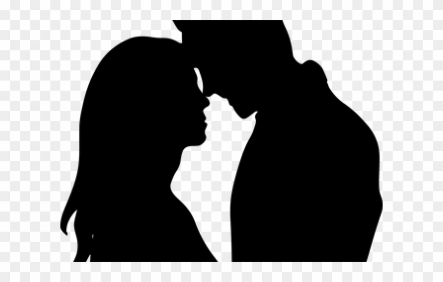 Kiss couple clipart vector royalty free Kissing Clipart Guy Girl - Silhouette Of A Couple Png Transparent ... vector royalty free
