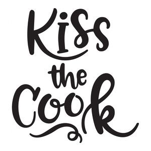 Kiss the cook clipart
