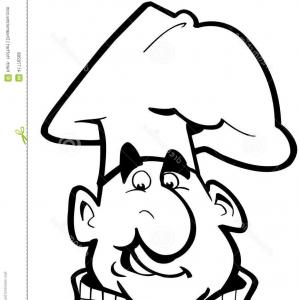 Kiss the cook clipart freeuse download Chef Monster Wearing A Kiss The Cook Apron | SOIDERGI freeuse download