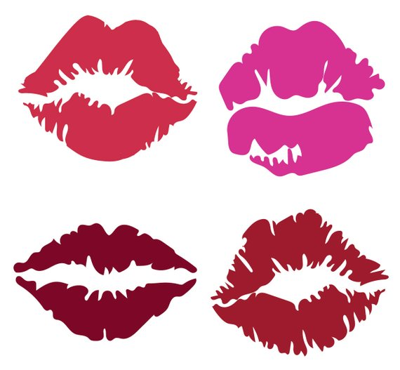 Kisses clipart banner transparent download KISS CLIPART - Lipstick lips icons - printable girlie love icons ... banner transparent download