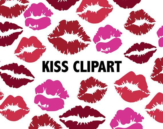 Kisses clipart png KISS CLIPART - Lipstick lips icons - printable girlie love icons ... png