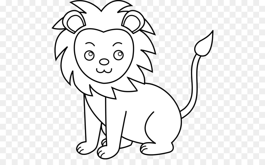 Kissing a lion clipart black and white
