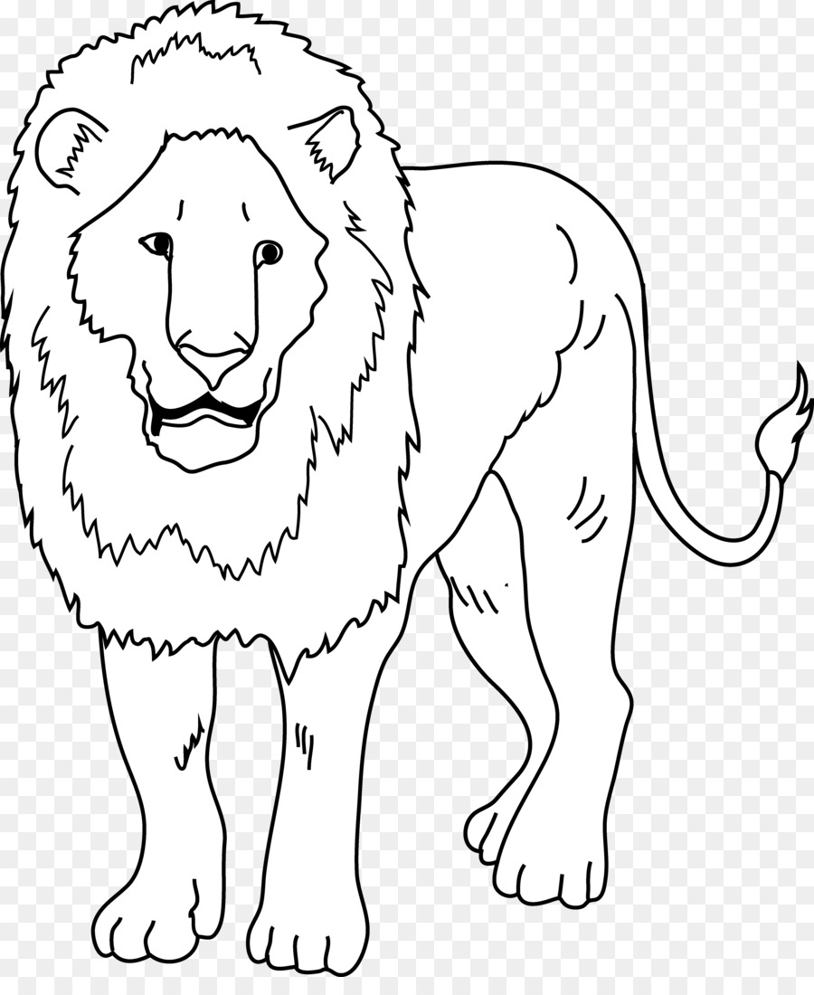 Kissing a lion clipart black and white png transparent stock Lion Drawing clipart - Lion, transparent clip art png transparent stock