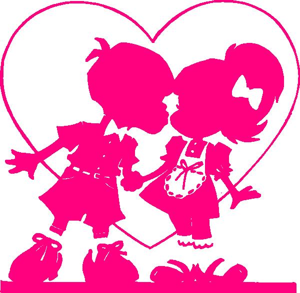 Kissing fish clipart clip free Pink Valentine Kiss2 Clip Art at Clker.com - vector clip art online ... clip free