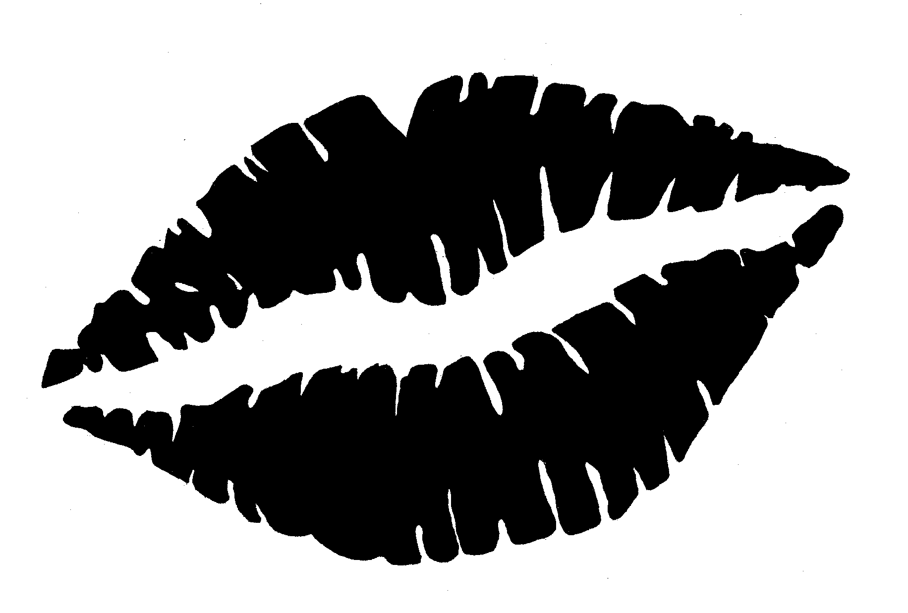 Library Of Kissing Lips Graphic Black And White Stock -3728