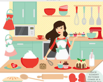 Kitchen chef clipart girl svg free library Kitchen chef clipart girl - ClipartFest svg free library