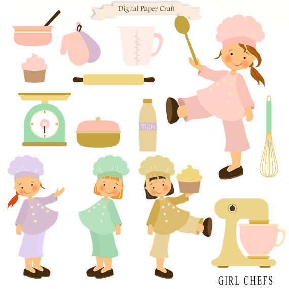 Kitchen chef clipart girl clipart free Cooking Clipart Girl clipart Chef Clipart Kitchen Clipart clipart free