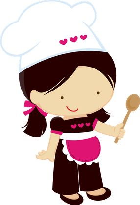 Kitchen chef clipart girl jpg black and white Kitchen chef clipart girl - ClipartFest jpg black and white