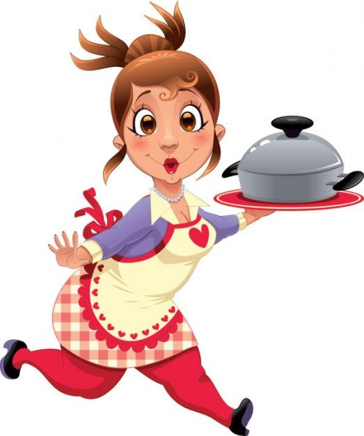 Kitchen chef clipart girl svg royalty free library Chef Cooking Cartoon | Cartoon chef and attendant image 02 ... svg royalty free library