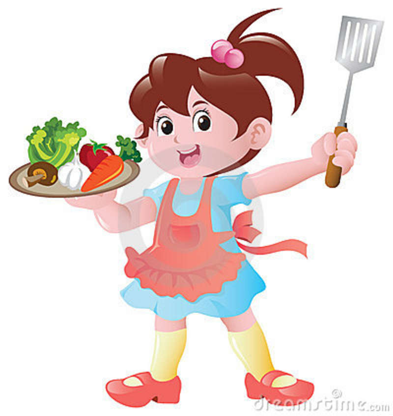 Kitchen chef clipart girl image royalty free stock Little Girl Chef Clipart - Clipart Kid image royalty free stock