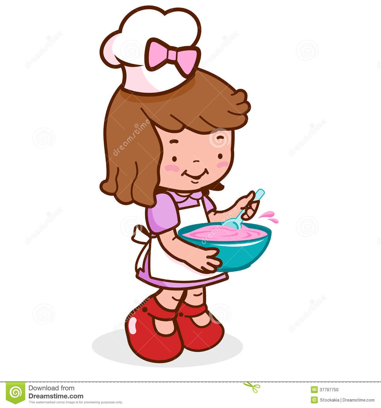 Kitchen chef clipart girl jpg black and white download Little Girl Chef Clipart - Clipart Kid jpg black and white download