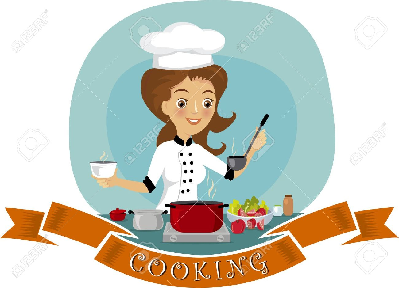 Kitchen chef clipart girl clipart transparent 46,438 Cooking Chef Stock Illustrations, Cliparts And Royalty Free ... clipart transparent