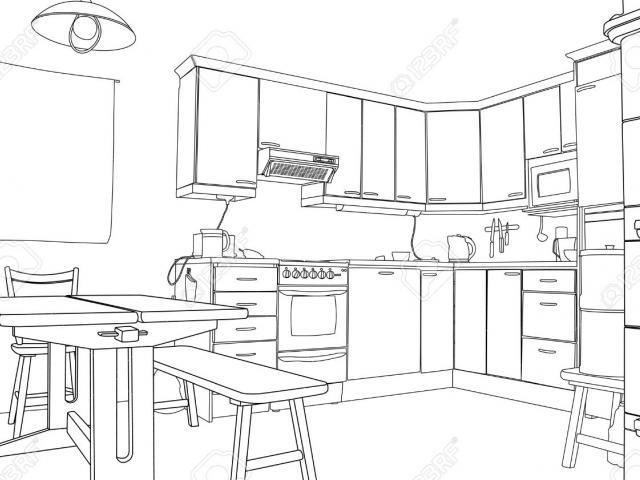 Kitchen clipart black and white clip art transparent Free Kitchen Clipart, Download Free Clip Art on Owips.com clip art transparent