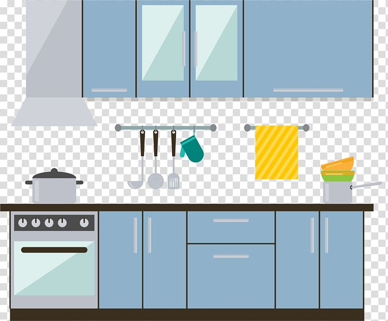 Kitchen furniture clipart png library stock Kitchen Interior Design Services Furniture, Modern central kitchen ... png library stock