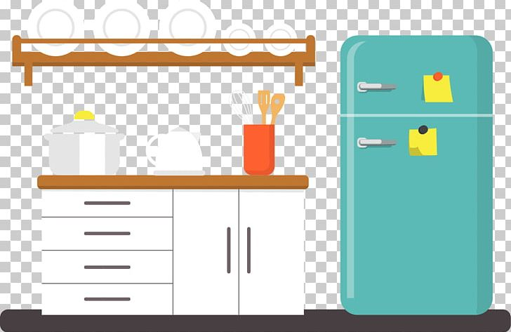 Kitchen furniture clipart image black and white download Kitchen Furniture Refrigerator PNG, Clipart, Cabinet, Cupboard ... image black and white download