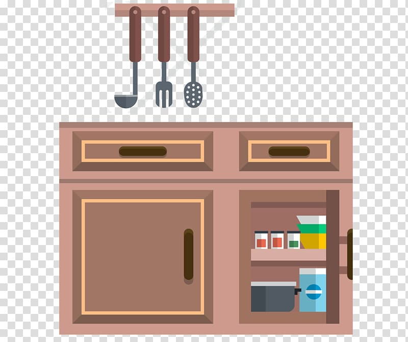 Kitchen furniture clipart png black and white download Furniture Kitchen cabinet Cupboard, Kitchen cabinets transparent ... png black and white download