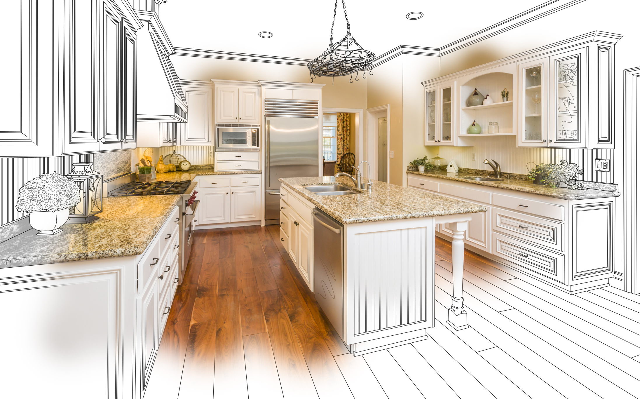 Kitchen remodel clipart clipart freeuse download Brighten Up Your Kitchen in 3 Easy Steps - GNH Lumber Co. clipart freeuse download