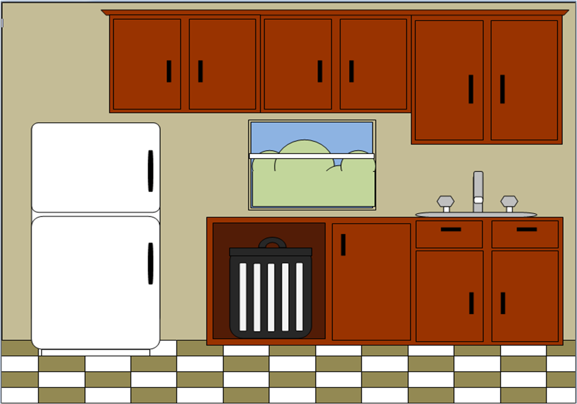 Kitchen room clipart transparent library Kitchen | Free Images at Clker.com - vector clip art online, royalty ... transparent library