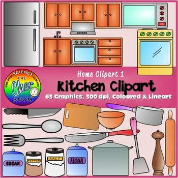 Kitchen room clipart vector library stock Kitchen Clipart (My Home Series I) vector library stock