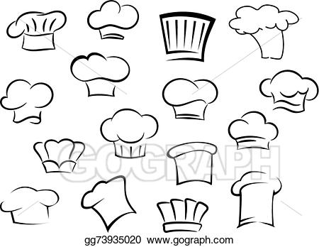 Kitchen staff clipart clip freeuse download EPS Illustration - Chef hats or caps for kitchen staff ... clip freeuse download