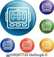 Kitchen timers clipart vector download Kitchen Timer Clip Art - Royalty Free - GoGraph vector download