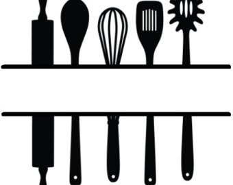 Kitchen utensil clipart clipart black and white library Utensils Clipart | Free download best Utensils Clipart on ... clipart black and white library