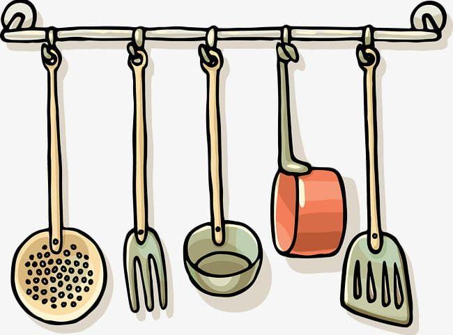 Kitchen utensil clipart image download Black Line Kitchen Utensils PNG, Clipart, Black, Black ... image download