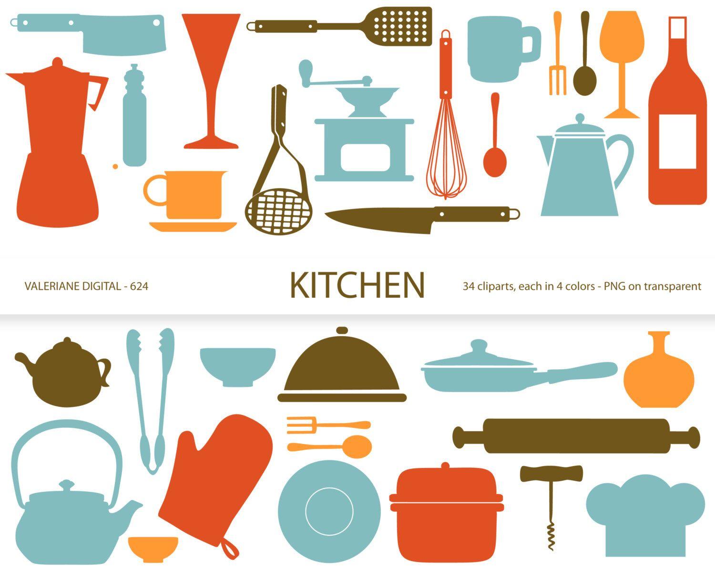 Kitchen utensil clipart png free Kitchen clipart\'s, retro kitchen utensils, scrapbook ... png free