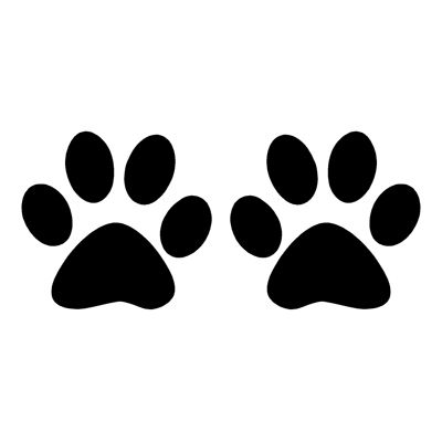 Kitty paws clipart svg black and white Dog paw prints silhouette illustration animal background ... svg black and white
