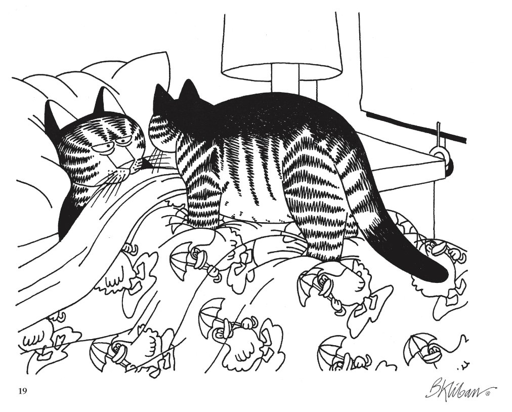 Kliban cat playing hockey black and white clipart clip free Kliban CatColor Coloring Book: Pomegranate: 9780764950315 ... clip free