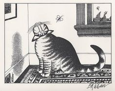 Kliban cat playing hockey black and white clipart clipart free download 38 Best Kliban images in 2017 | Charles addams, Comic strips ... clipart free download