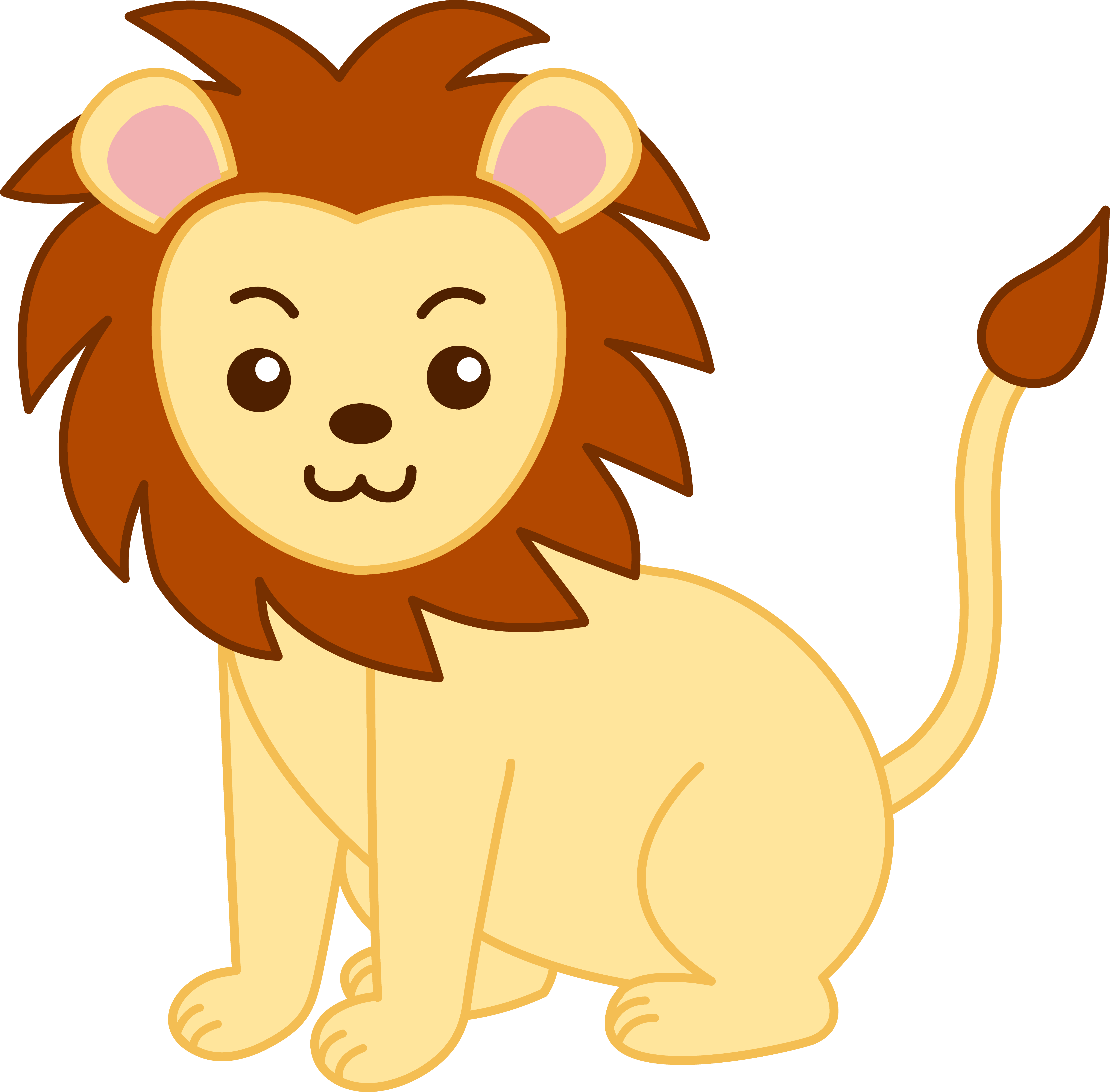 Klion clipart picture black and white Baby Safari Animals Clipart Free Download Clip Art | Ryler ... picture black and white