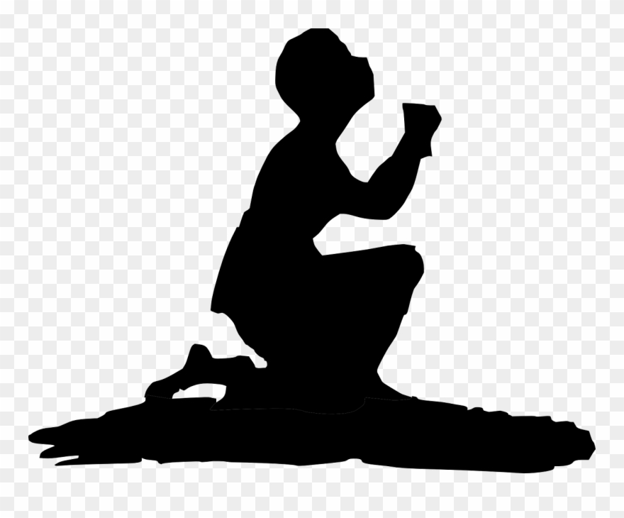 Kneeling and praying clipart png free download Prayer Hands Cartoon - Man Kneeling Clipart - Png Download ... png free download