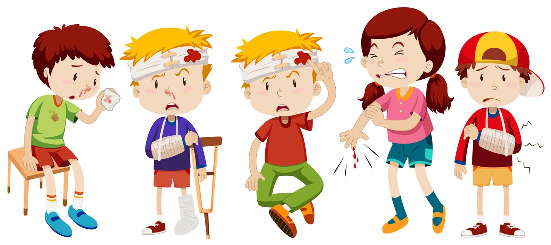 Knife wound clipart jpg download Children with wounds from accident - Download Free Vectors ... jpg download