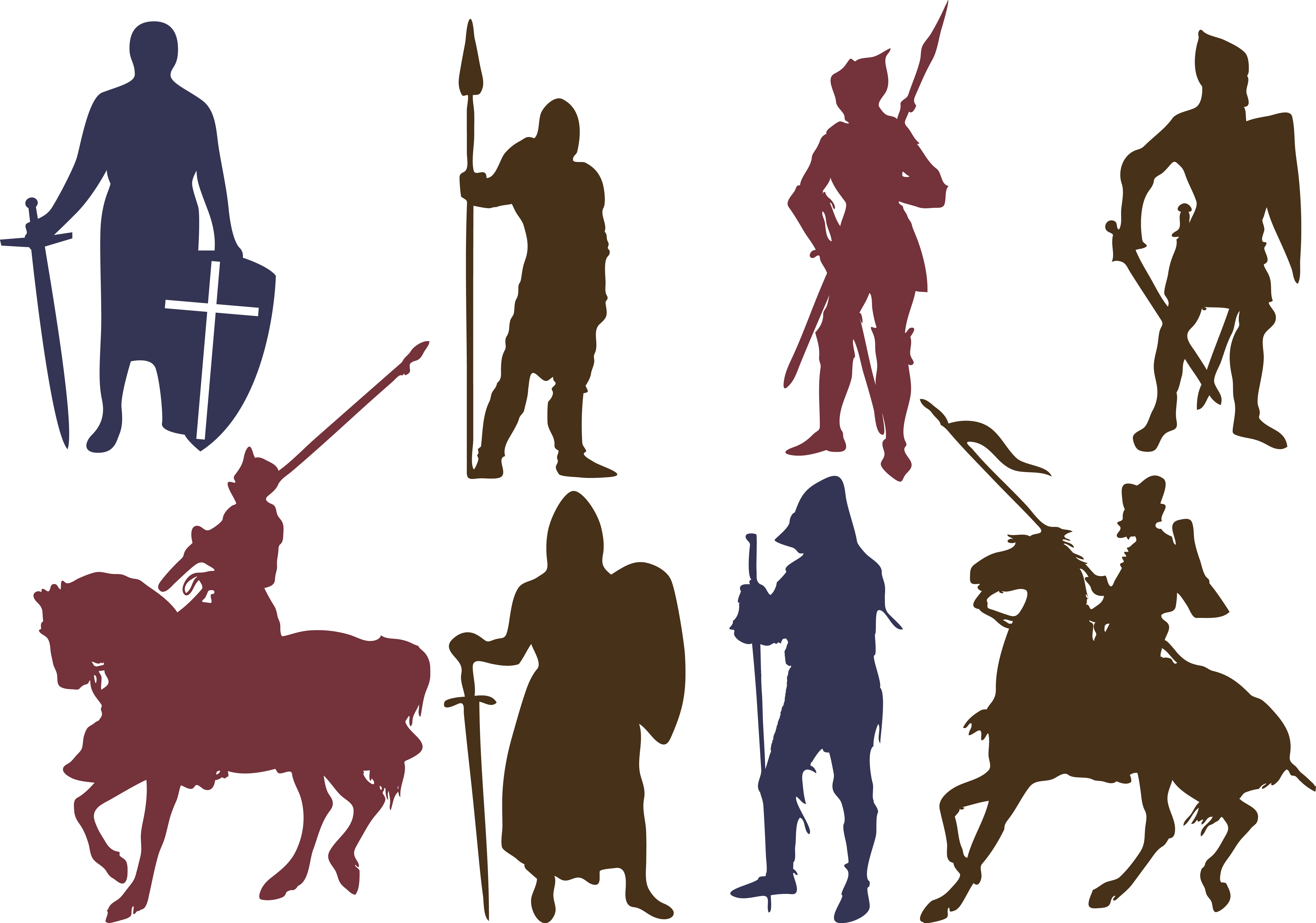 Knight basketball clipart vector transparent Knights Silhouette at GetDrawings.com   Free for personal use ... vector transparent
