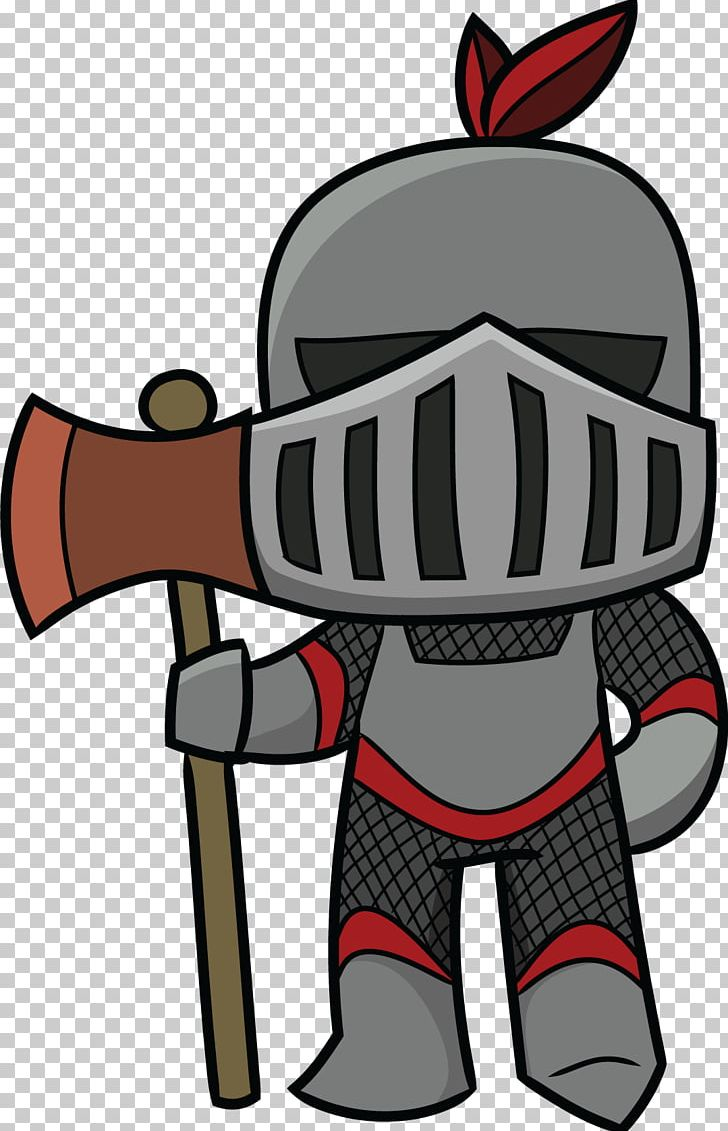 Knight cartoon clipart clip art black and white Middle Ages Knight Cartoon PNG, Clipart, Armour, Art, Black ... clip art black and white