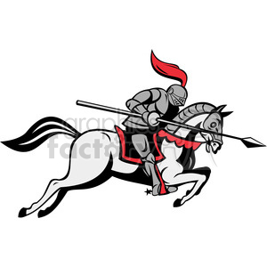 Knight horse clipart stock knight with jousting lance riding horse clipart. Royalty-free clipart #  388378 stock