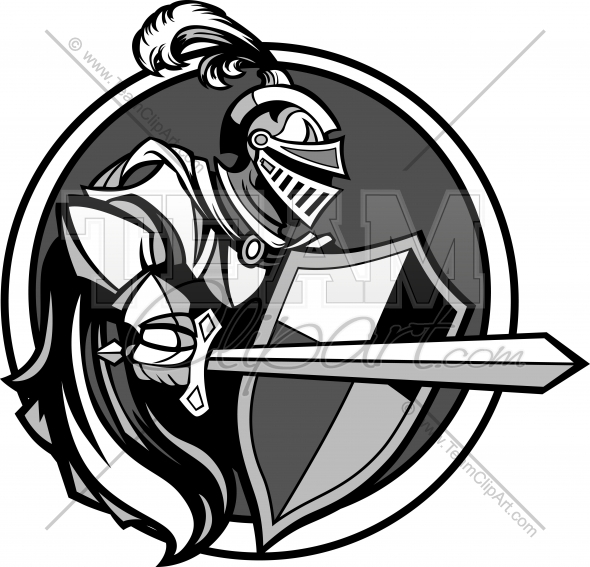 Knight with sword clipart svg royalty free download Medieval Knight with Sword and Shield Vector Image - Team ... svg royalty free download