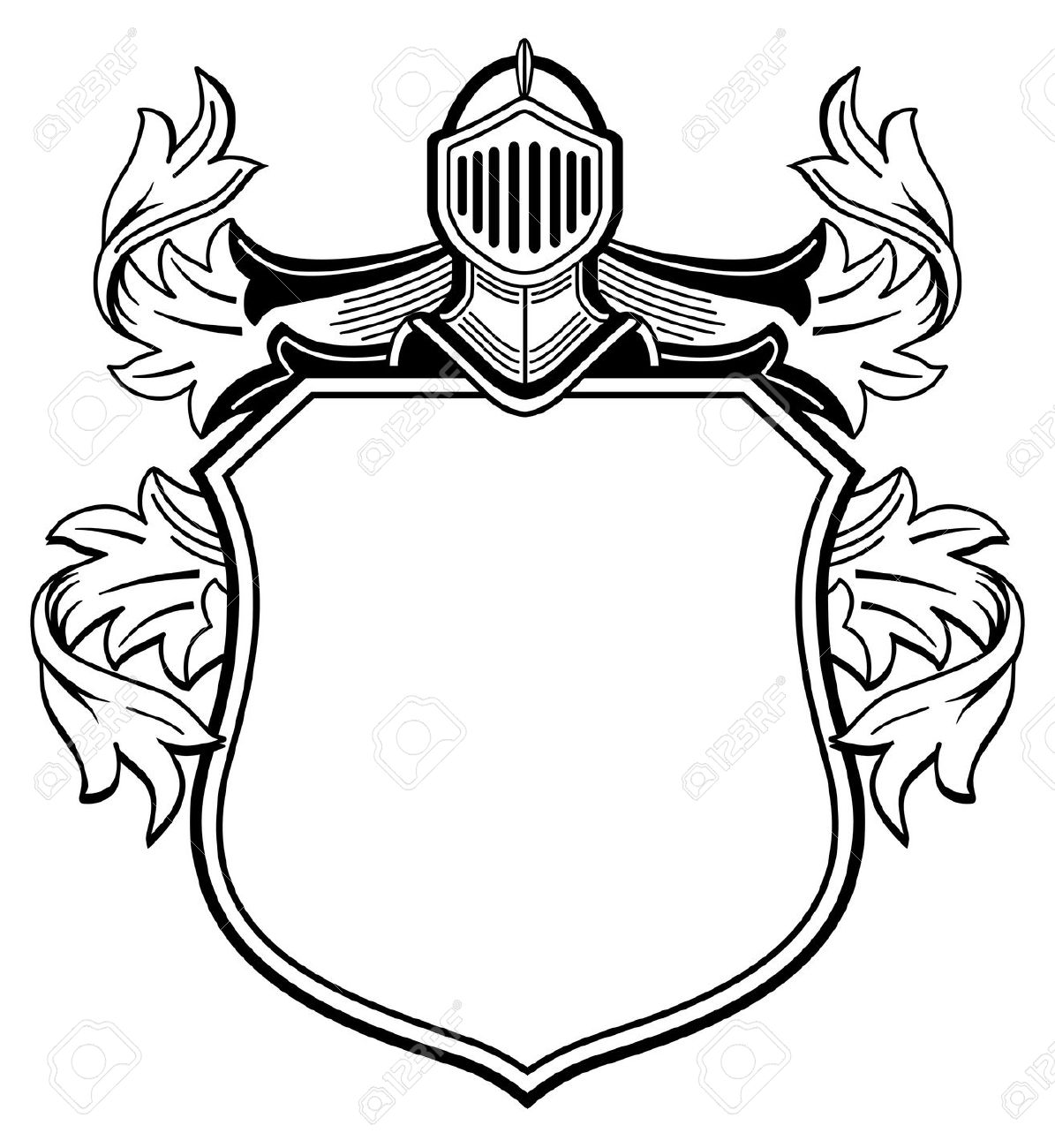 Knights shield border clipart black and white clip art free library Shield Clipart Black And White | Free download best Shield ... clip art free library