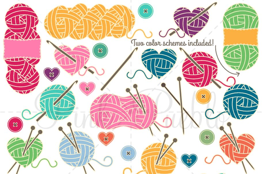 Knitting and crocheting clipart vector freeuse Knitting & Crochet Clipart & Vectors vector freeuse
