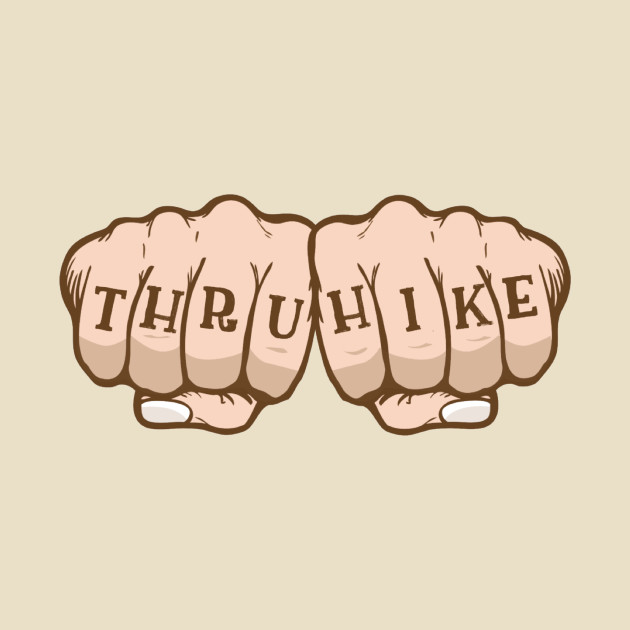 Knuckle tattoo clipart image transparent library Thru Hike Knuckle Tattoo image transparent library